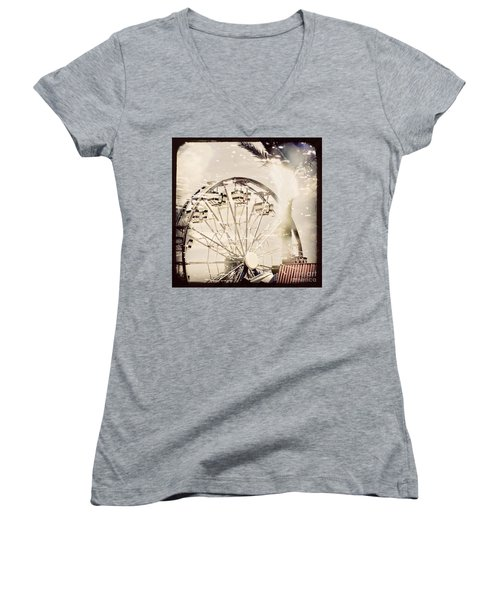 Women's V-Neck T-Shirt (Junior Cut) featuring the photograph Summer Fun by Trish Mistric
