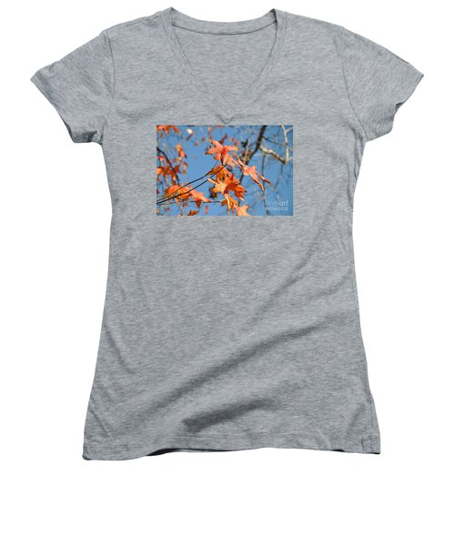 Summer Gold Leaf Women's V-Neck