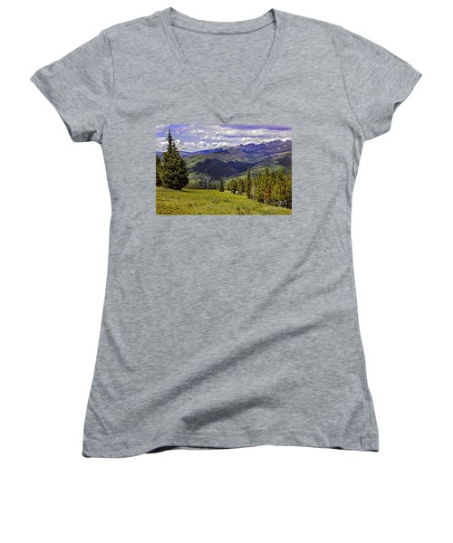 Summer Lifts - Vail Women's V-Neck (Athletic Fit)