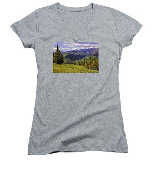 Summer Lifts - Vail Women's V-Neck T-Shirt