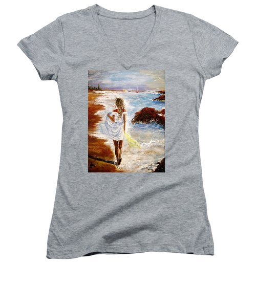 Summer Memories Women's V-Neck T-Shirt