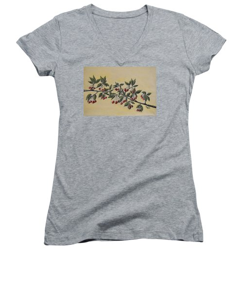 Summer Stay... Women's V-Neck (Athletic Fit)