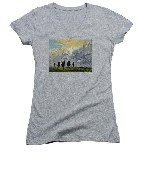 Summer Storm Women's V-Neck T-Shirt