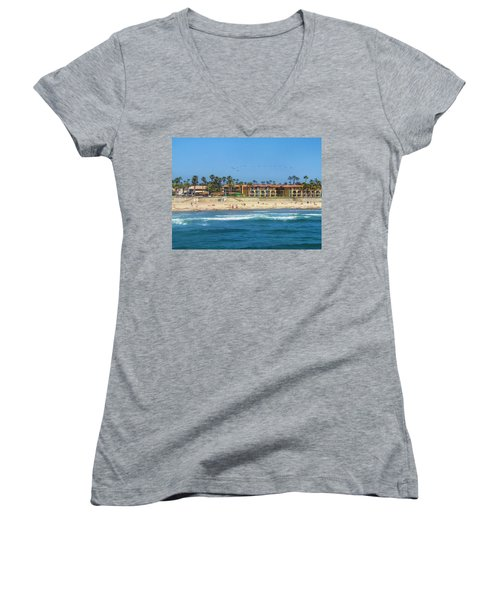 Women's V-Neck T-Shirt (Junior Cut) featuring the photograph Summertime by Tammy Espino