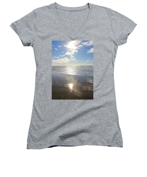 Sun And Sand Women's V-Neck T-Shirt (Junior Cut) by Athena Mckinzie