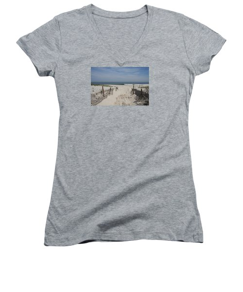 Sun And Sand Women's V-Neck T-Shirt (Junior Cut) by Christiane Schulze Art And Photography
