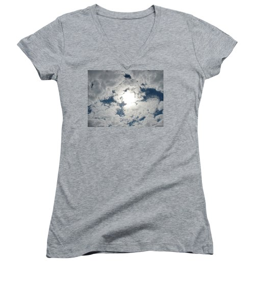 Sun Peek Women's V-Neck T-Shirt (Junior Cut) by Deborah Lacoste