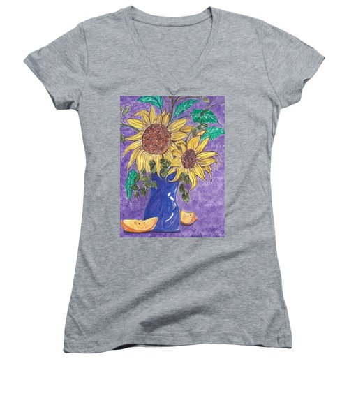 Sunburst Women's V-Neck T-Shirt (Junior Cut)