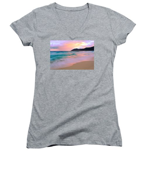 Sunday Morning Women's V-Neck T-Shirt (Junior Cut) by Roupen  Baker