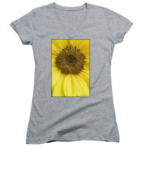 Sunflower Women's V-Neck T-Shirt (Junior Cut)