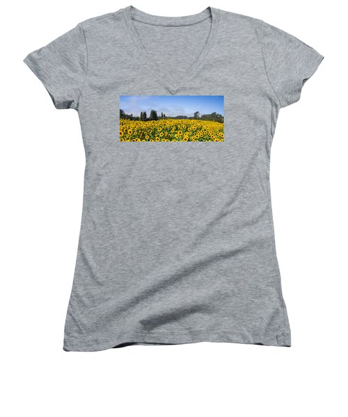 Sunflower Horizon Women's V-Neck T-Shirt