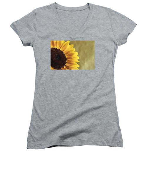 Women's V-Neck T-Shirt (Junior Cut) featuring the photograph Sunflower by Lana Enderle
