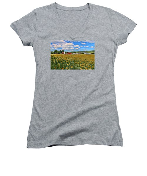 Sunflower Nirvana 17 Women's V-Neck
