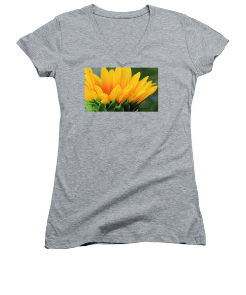 Sunflower Profile Women's V-Neck (Athletic Fit)