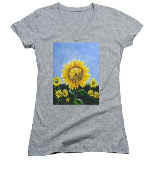 Sunflower Series One Women's V-Neck (Athletic Fit)