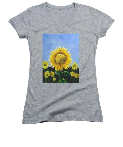 Sunflower Series One Women's V-Neck