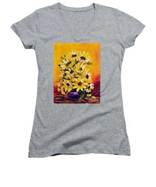 Sunflowers  No.3 Women's V-Neck T-Shirt