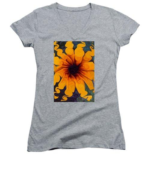 Sunflowers On Psychadelics Women's V-Neck