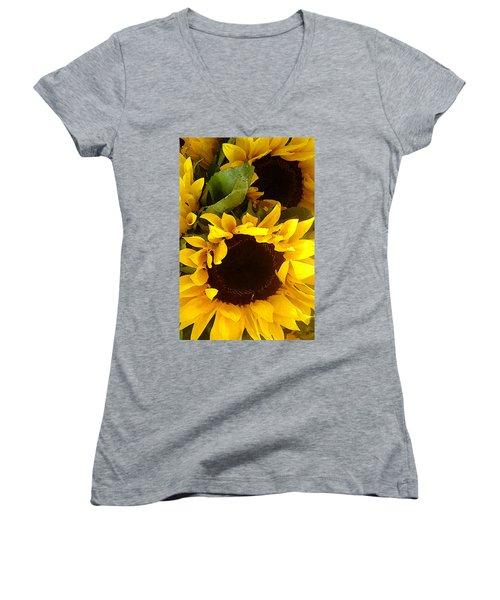 Sunflowers Tall Women's V-Neck