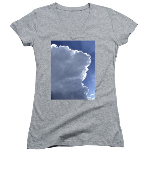 Sunrays Above Women's V-Neck (Athletic Fit)