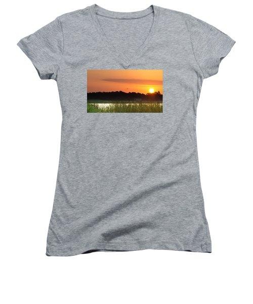 Sunrise At Lakewood Ranch Florida Women's V-Neck