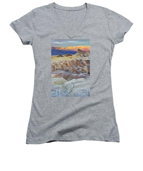 Sunrise In Death Valley Women's V-Neck