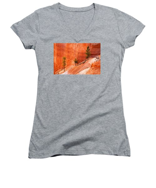Sunrise Point Bryce Canyon National Park Women's V-Neck (Athletic Fit)