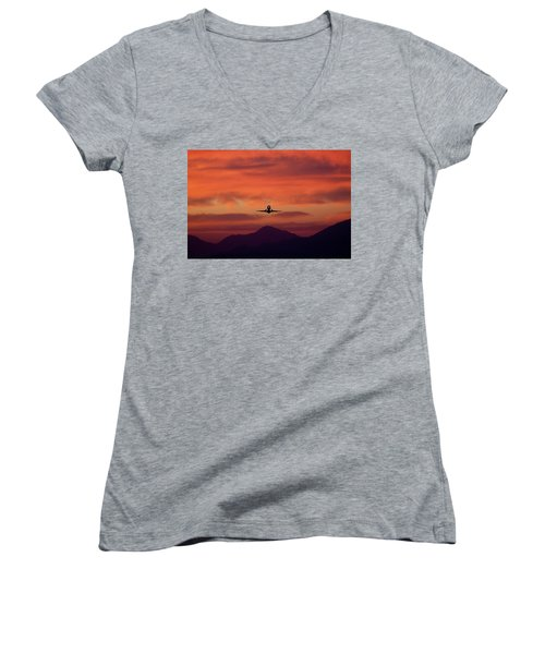 Sunrise Takeoff Women's V-Neck (Athletic Fit)