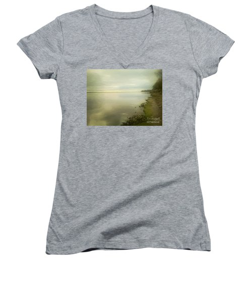Sunset Before The Storm Women's V-Neck