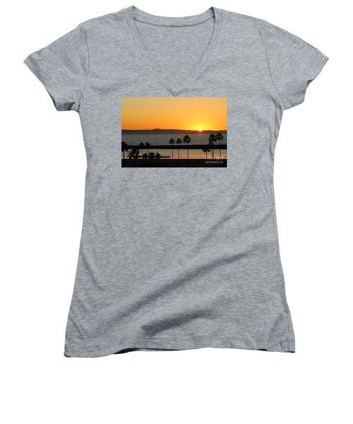Sunset Women's V-Neck (Athletic Fit)