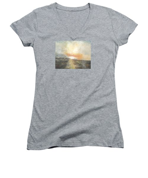 Sunset Drama Women's V-Neck T-Shirt