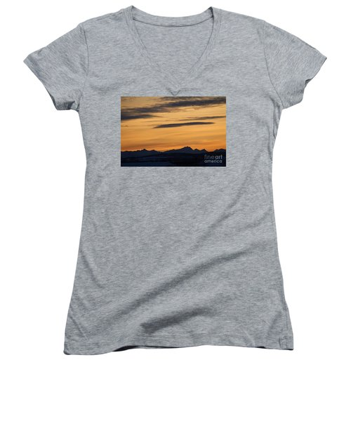 Sunset From 567 Women's V-Neck (Athletic Fit)