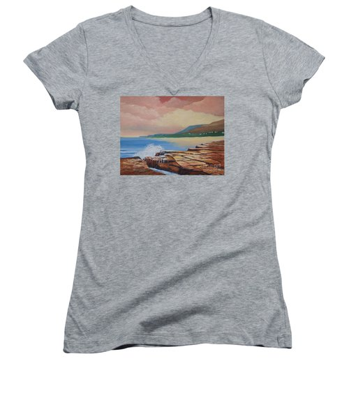 Sunset In New South Wales Women's V-Neck