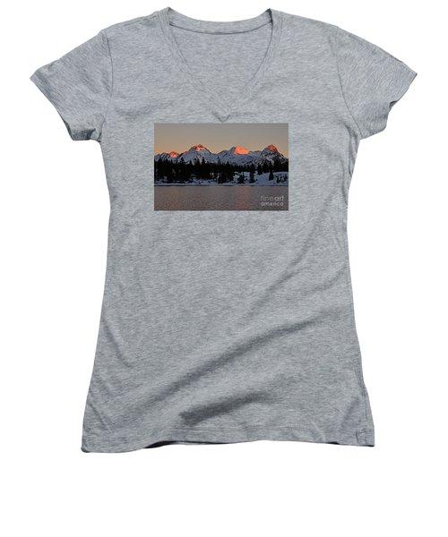 Sunset On The Grenadiers Women's V-Neck T-Shirt