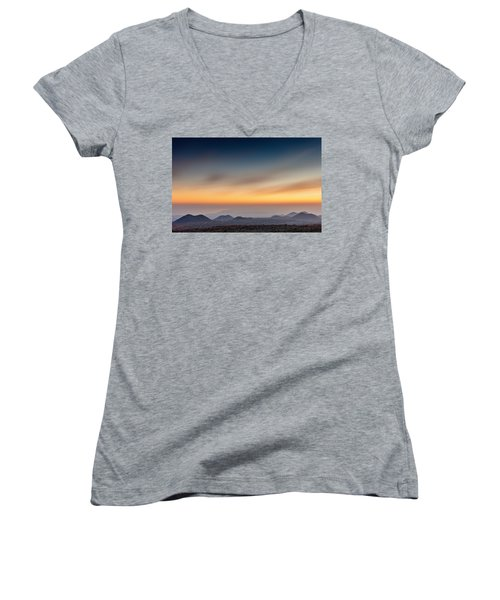 Sunset Over The Gulf Women's V-Neck (Athletic Fit)