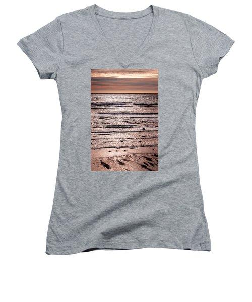 Sunset Ocean Women's V-Neck