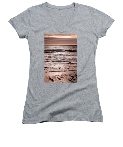 Sunset Ocean Women's V-Neck
