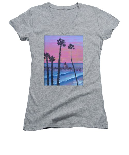 Sunset Pier Women's V-Neck
