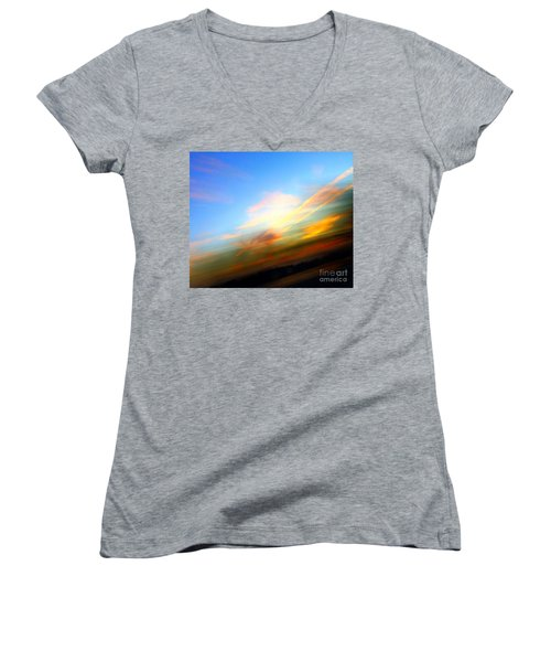 Sunset Reflections - Abstract Women's V-Neck
