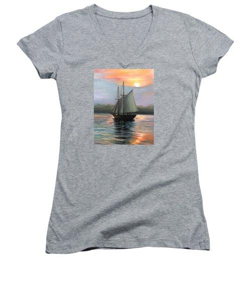 Sunset Sails Women's V-Neck T-Shirt