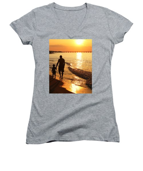 Sunset Stroll Women's V-Neck