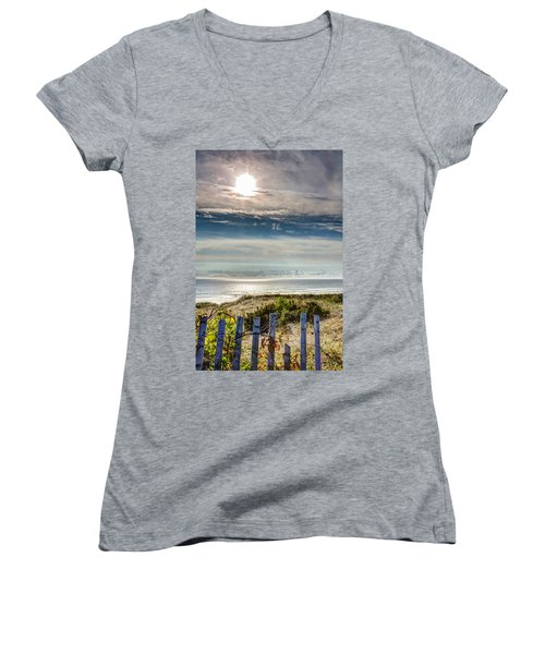 Surfers At Coast Guard Beach Women's V-Neck (Athletic Fit)