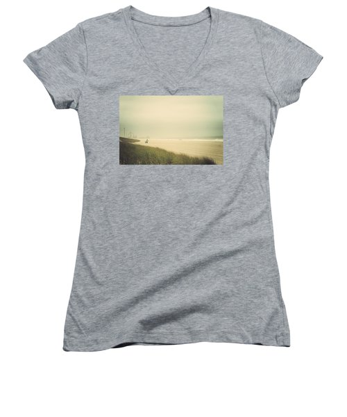 Surf's Up Seaside Park New Jersey Women's V-Neck