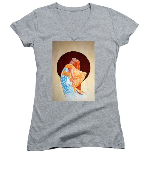 Surrender Women's V-Neck T-Shirt (Junior Cut) by Leena Pekkalainen