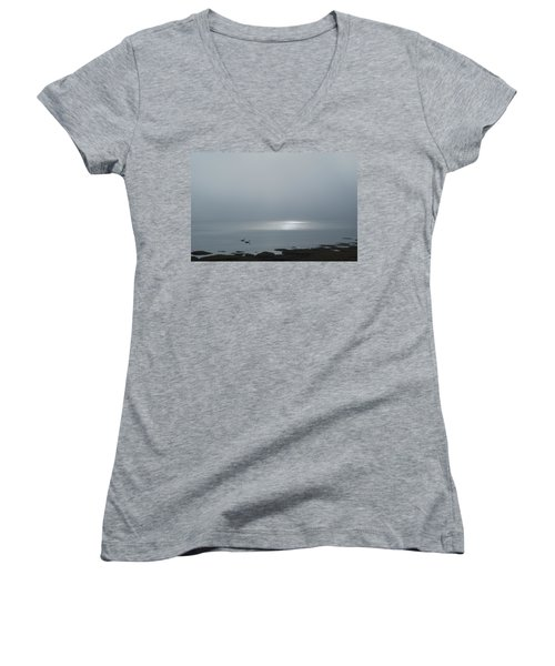 Swans At Sunrise Women's V-Neck (Athletic Fit)