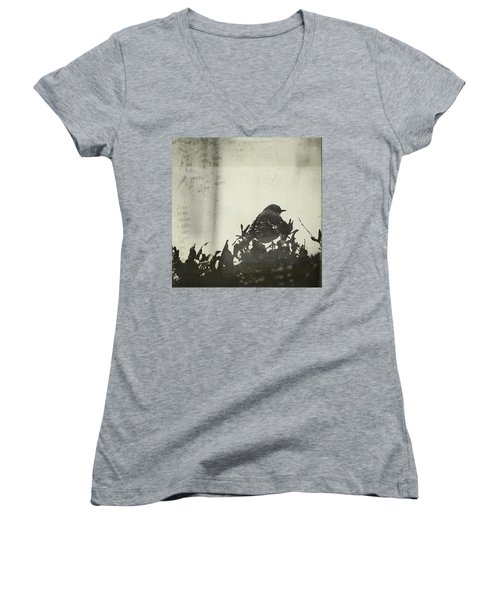 Women's V-Neck T-Shirt (Junior Cut) featuring the photograph Sweet Disposition by Trish Mistric