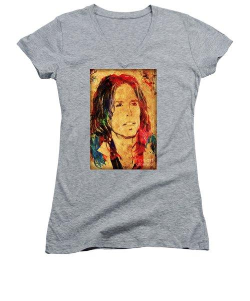 Sweet Emotion Women's V-Neck T-Shirt (Junior Cut) by Gary Keesler