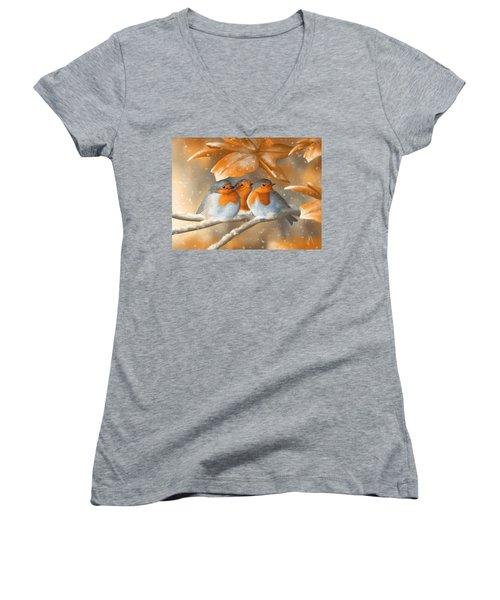 Sweet Nature Women's V-Neck T-Shirt (Junior Cut) by Veronica Minozzi
