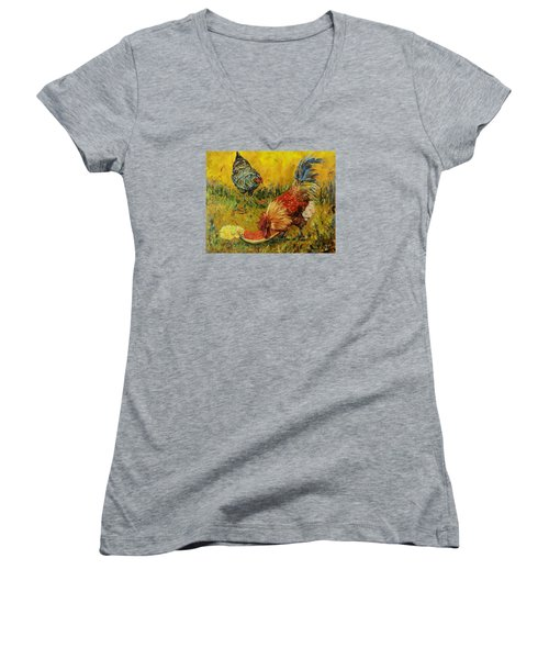 Sweet Pickins, Chickens Women's V-Neck T-Shirt