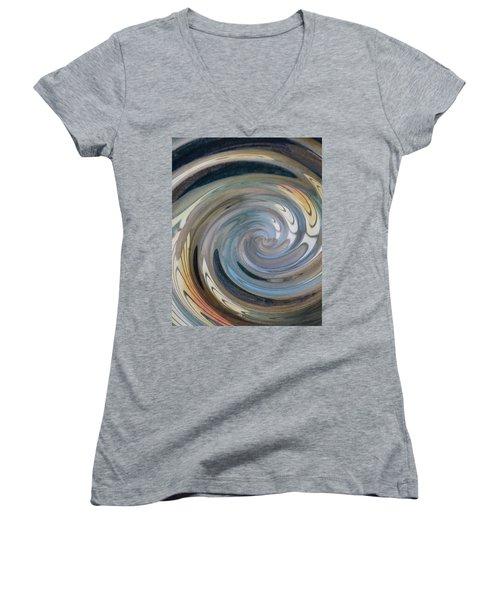Women's V-Neck T-Shirt (Junior Cut) featuring the photograph Swirl by Diane Alexander